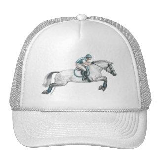 Dapple el salto gris del caballo de Eventing Gorros Bordados