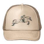 Dapple el salto gris del caballo de Eventing Gorras De Camionero