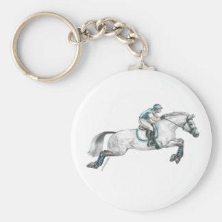 Dapple el salto gris del caballo de Eventing Llavero