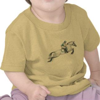 Dapple el salto gris del caballo de Eventing Camisetas