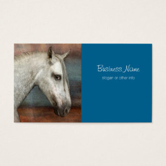 Dapple Gray Andalusian Horse Portrait Business Card