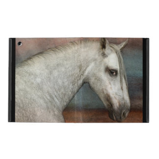 Dapple Gray Andalusian Horse Portrait iPad Folio Case