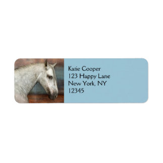 Dapple Gray Andalusian Horse Portrait Return Address Labels