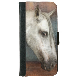 Dapple Gray Andalusian Horse Portrait Wallet Phone Case For iPhone 6/6s