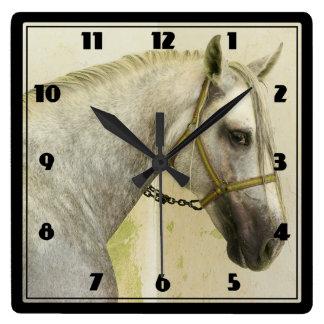 Dapple Gray Andalusian Horse Square Wall Clock