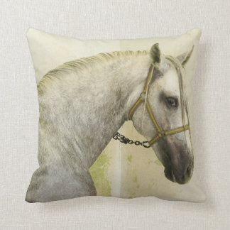 Dapple Gray Andalusian Horse Throw Pillow