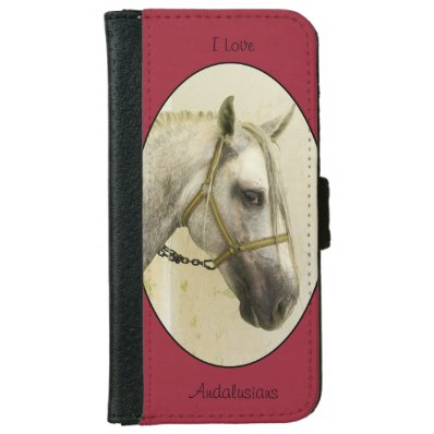 Dapple Gray Andalusian Horse Wallet Phone Case For iPhone 6/6S