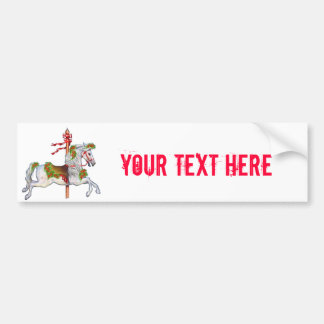 Dapple Gray Carousel Horse Bumper Sticker