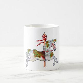 Dapple Gray Carousel Horse Classic White Coffee Mug