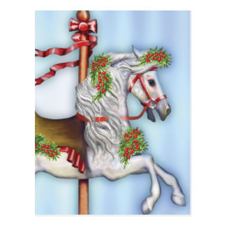 Dapple Gray Carousel Horse Post Card