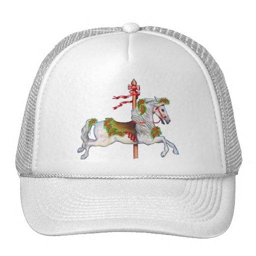 Dapple Gray Carousel Horse Trucker Hat