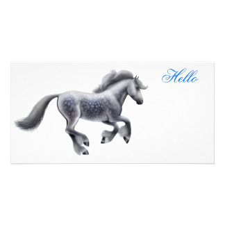 Dapple Gray Draft Horse Photo Card