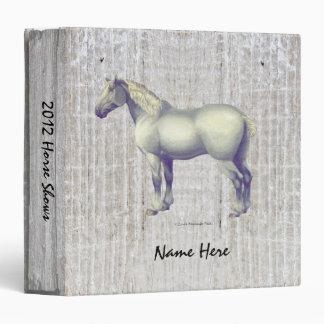 Dapple Gray Percheron Horse 3 Ring Binder