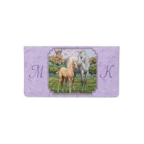 Dapple Gray Quarter Horse Mare Palomino Foal Checkbook Cover