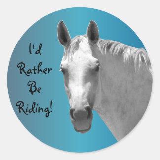 Dapple Grey Horse Classic Round Sticker