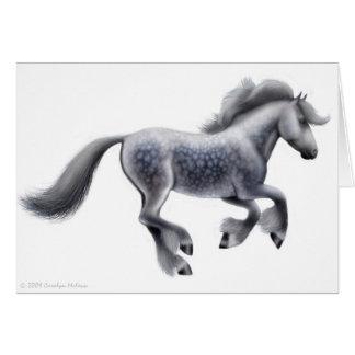 Dapple la tarjeta de felicitación gris del caballo