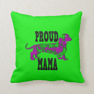 Dapple Purple and Green Dachshund Throw Pillow
