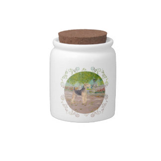 Dappled Afternoon Shade Candy Jars