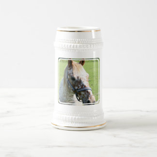Dappled Appaloosa Horse Beer Stein Coffee Mug