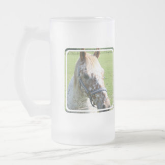 Dappled Appaloosa Horse  Frosted Beer Mug