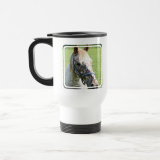 Dappled Appaloosa Horse  Plastic Travel Mug