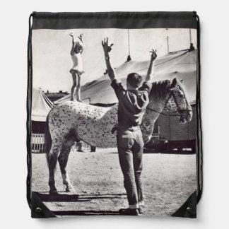 DAPPLED CIRCUS HORSE DRAWSTRING BAG
