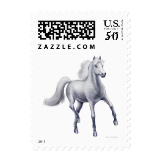 Dappled Gray Arabian Horse Postage