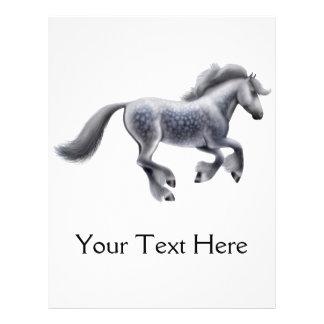 Dappled Gray Draft Horse Flyer