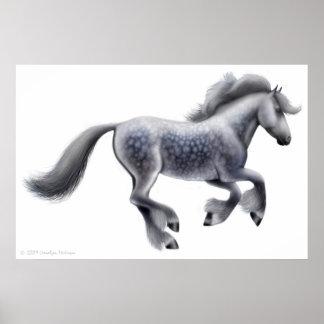 Dappled Gray Draft Horse Print