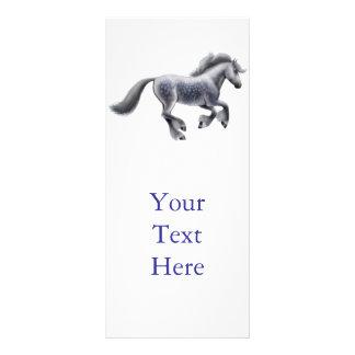 Dappled Gray Draft Horse Rack Card