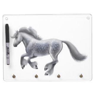 Dappled Gray Shire Draft Horse Dry Erase Board