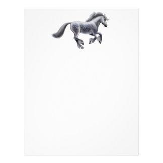 Dappled Grey Draft Horse Letterhead