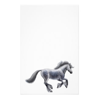 Dappled Grey Draft Horse Stationery