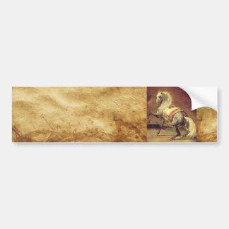 DAPPLED GREY HORSE ,Brown Bumper Sticker