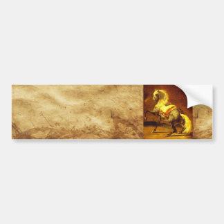 DAPPLED GREY HORSE ,Brown Gold Yellow Bumper Sticker