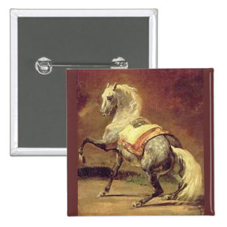DAPPLED GREY HORSE BUTTON