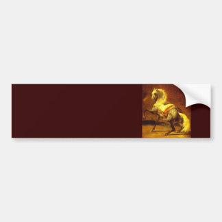 DAPPLED GREY HORSE , Gold Yellow Bumper Sticker