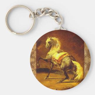 DAPPLED GREY HORSE KEYCHAIN