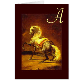 DAPPLED GREY HORSE Monogram Card