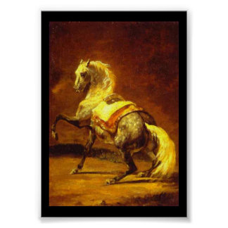 DAPPLED GREY HORSE PRINT
