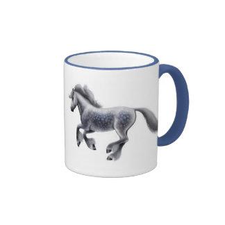 Dappled Grey Horses Ringer Mug