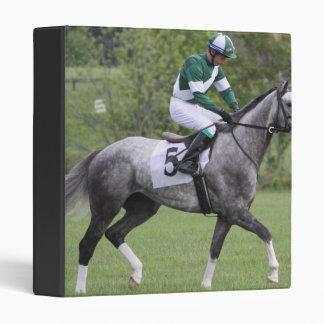 Dappled Grey Race Horse Binder