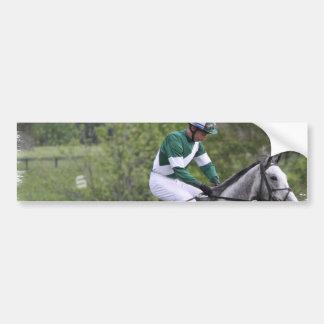 Dappled Grey Race Horse Bumper Sticker Car Bumper Sticker