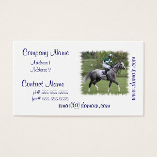 Dappled Grey Race Horse Business Cards