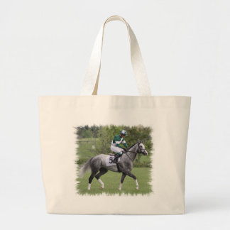 Dappled Grey Race Horse Canvas Bag