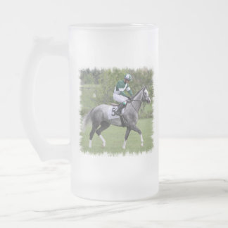 Dappled Grey Race Horse Frosted Beer Mug