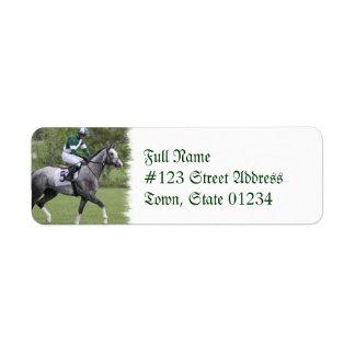 Dappled Grey Race Horse Mailing Label
