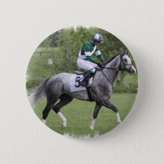 Dappled Grey Race Horse Pin