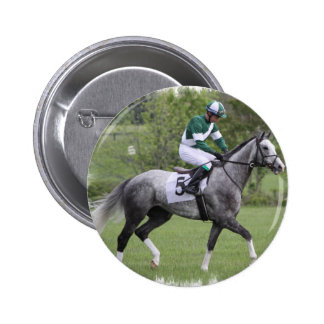 Dappled Grey Race Horse Pin
