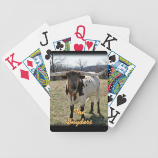 Dappled Longhorn Playing Cards - personalize
